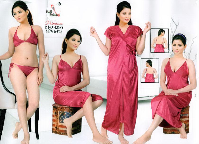 Fashionable Six Part Nighty-13679