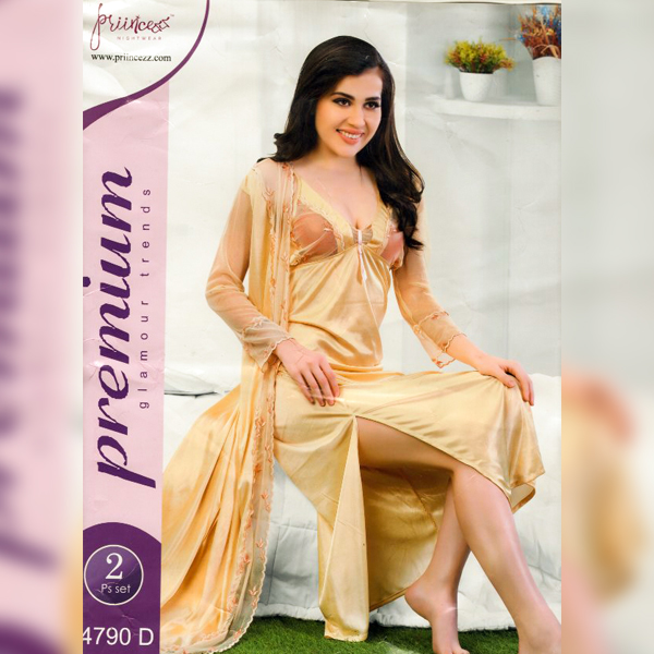 Fashionable Two Part Nighty-4790 D
