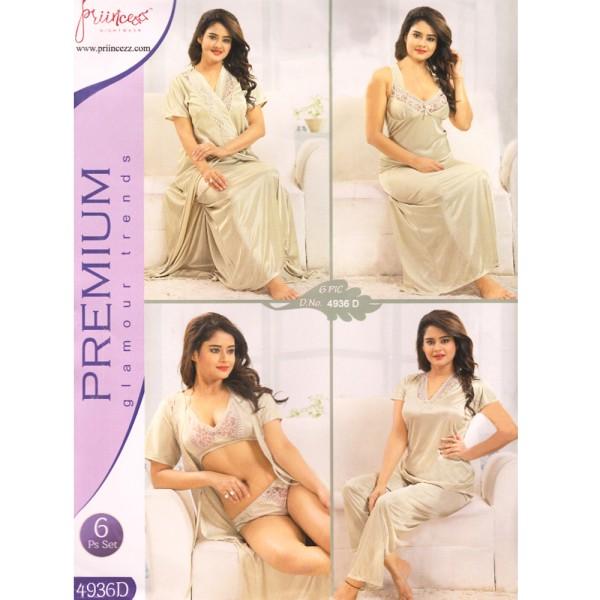 Fashionable Six Part Nighty-4936 D