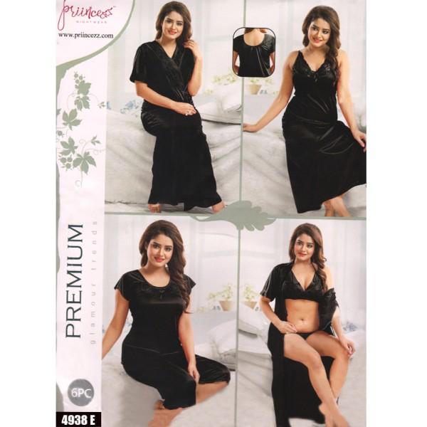 Fashionable Six Part Nighty-4938 E