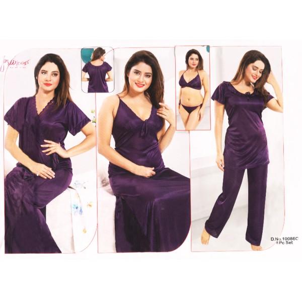Fashionable Six Part Nighty-10086 C