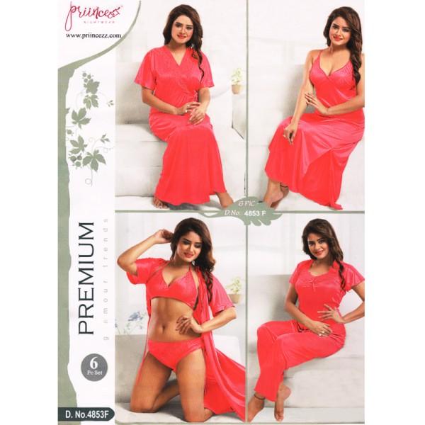 Fashionable Six Part Nighty-4853 F