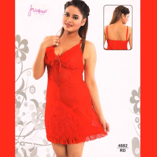 Fashionable Hot Nighty-4882 RD