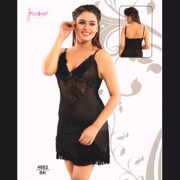 Fashionable Hot Nighty-4882 BK