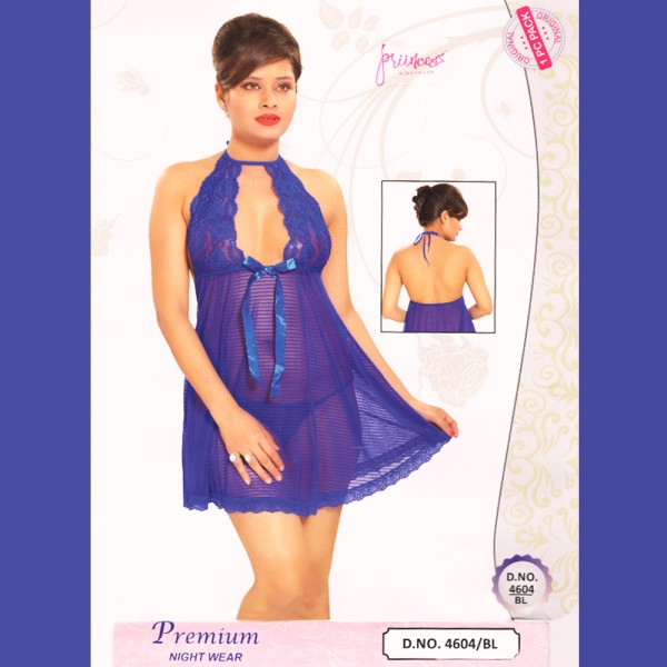 Fashionable Hot Nighty-4604 BL