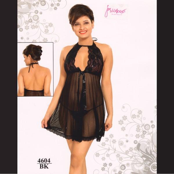 Fashionable Hot Nighty-4604 BK