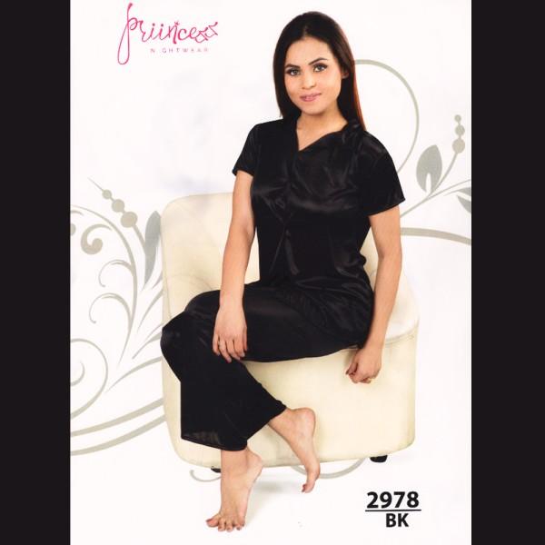 Fashionable Satin Divider-2978 BK