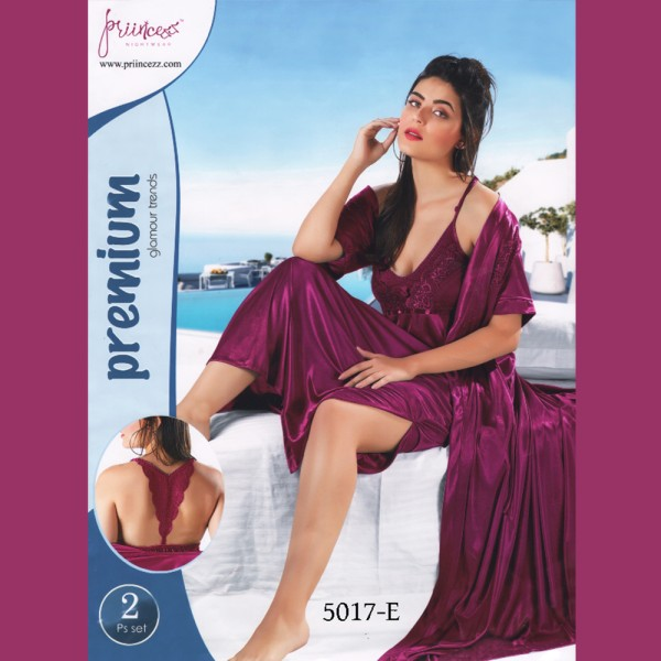 Fashionable Two Part Nighty-5017 E