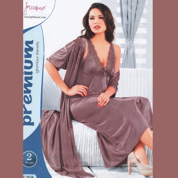 Fashionable Two Part Nighty-5012 F