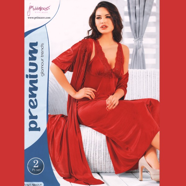 Fashionable Two Part Nighty-5012 C