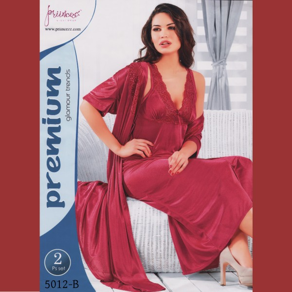 Fashionable Two Part Nighty-5012 B