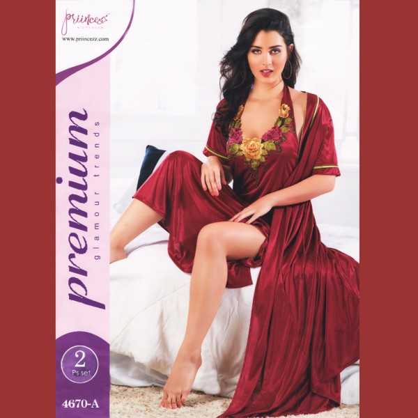 Fashionable Two Part Nighty-4670 A
