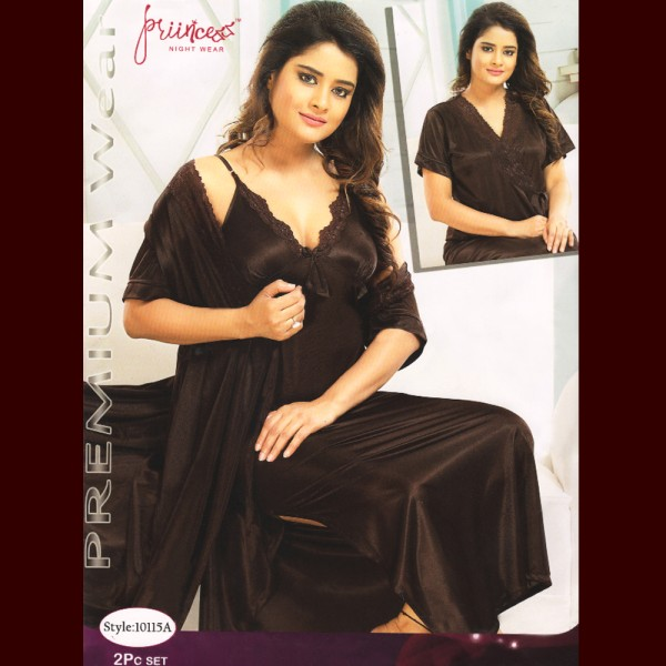 Fashionable Two Part Nighty-10115 A