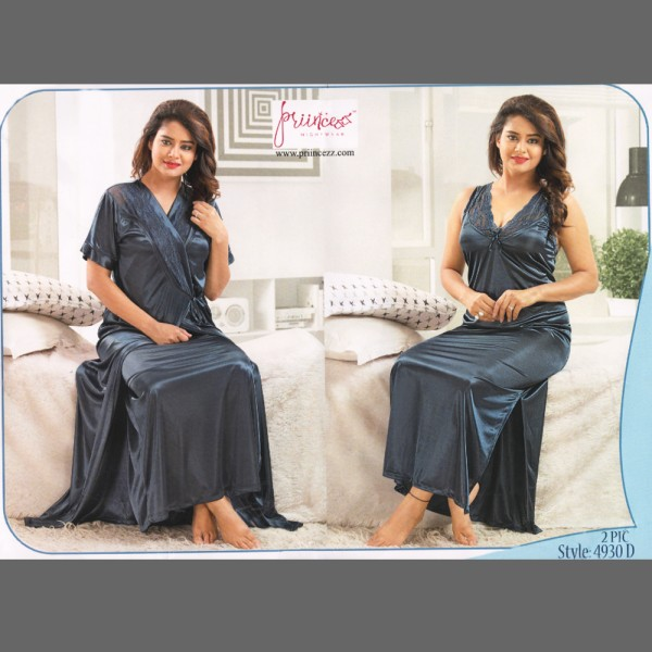 Fashionable Two Part Nighty-4930 D