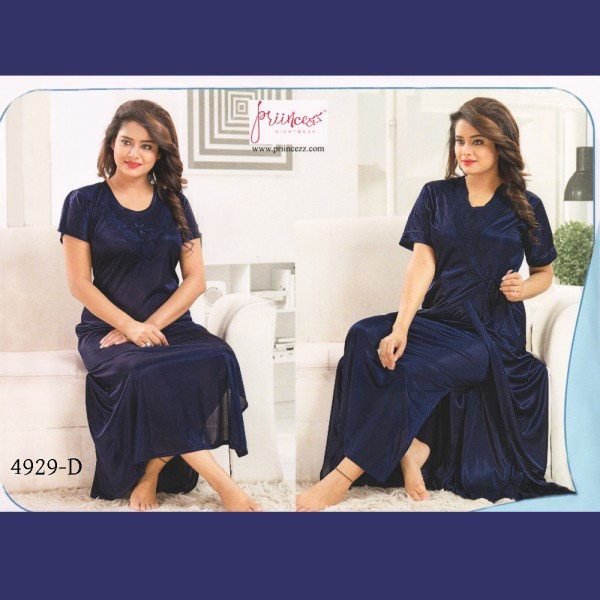 Fashionable Two Part Nighty-4929 D