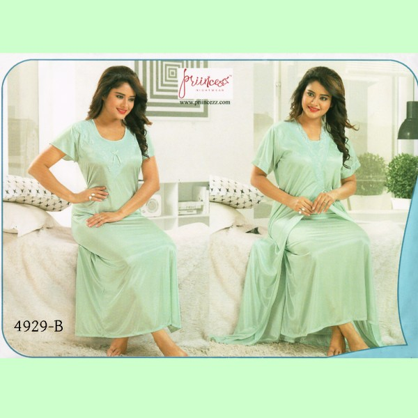 Fashionable Two Part Nighty-4929 B