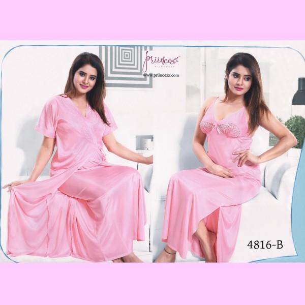 Fashionable Two Part Nighty-4816 B