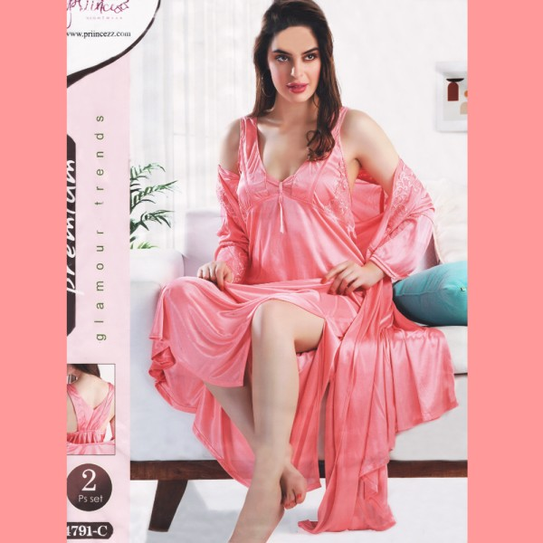 Fashionable Two Part Nighty-4791 C