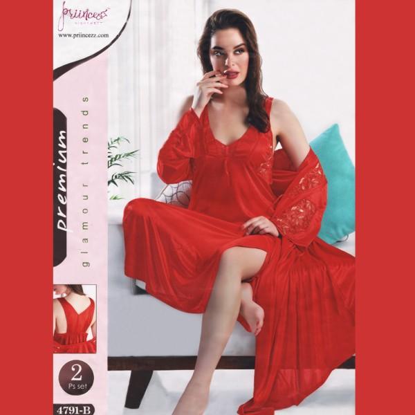 Fashionable Two Part Nighty-4791 B
