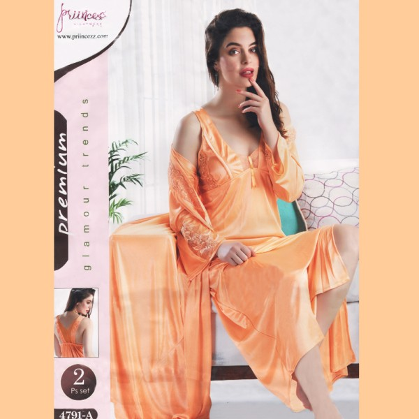 Fashionable Two Part Nighty-4791 A