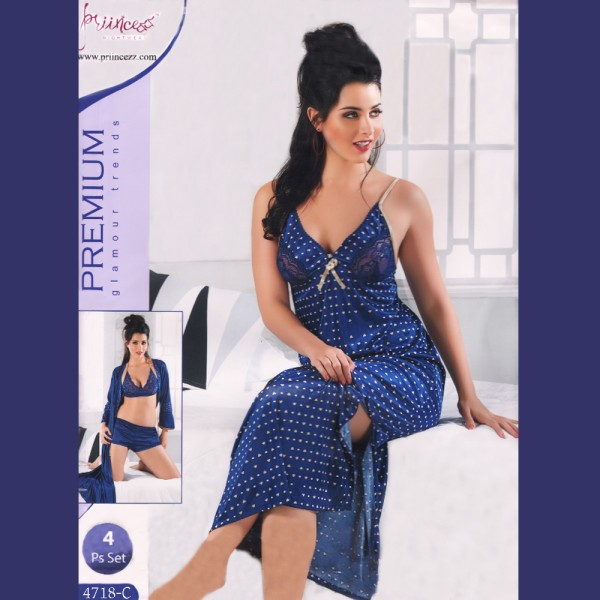 Fashionable Four Part Nighty-4718 C