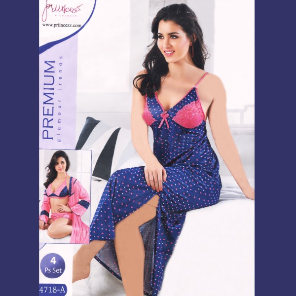 Fashionable Four Part Nighty-4718 A
