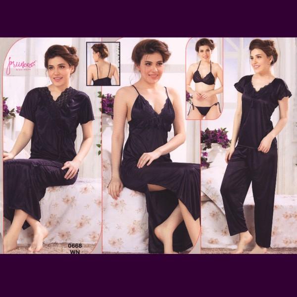 Fashionable Six Part Nighty-0668 WN