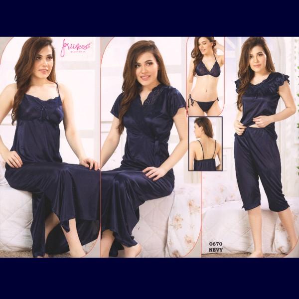Fashionable Six Part Nighty-0670 NEVY
