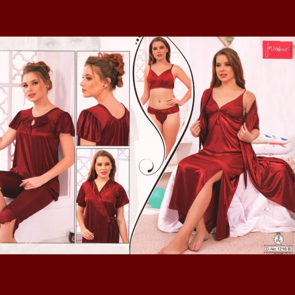 Fashionable Six Part Nighty-1216 B