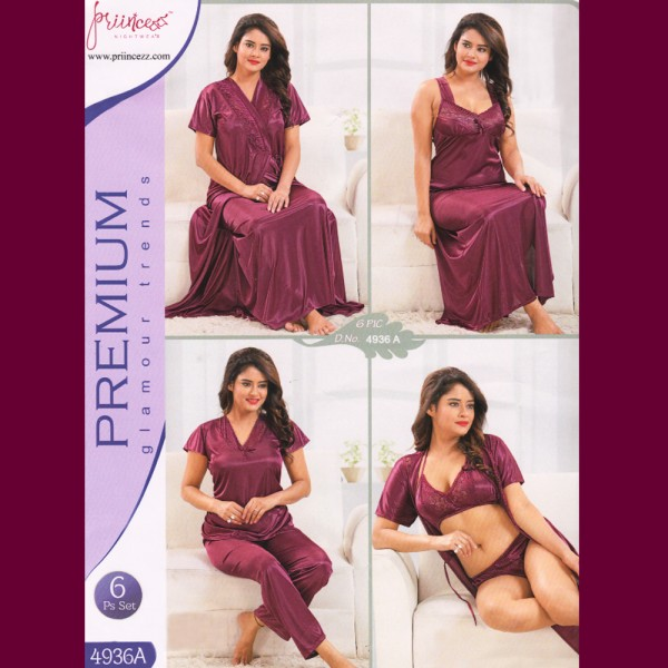 Fashionable Six Part Nighty-4936 A