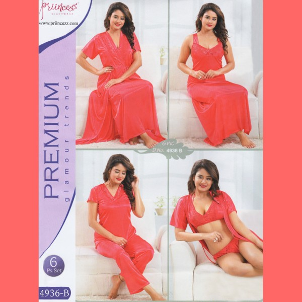 Fashionable Six Part Nighty-4936 B