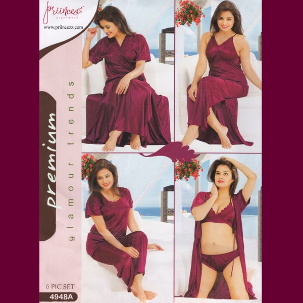 Fashionable Six Part Nighty-4948 A