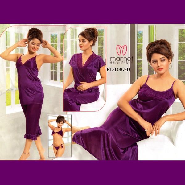 Fashionable Six Part Nighty-1087 D