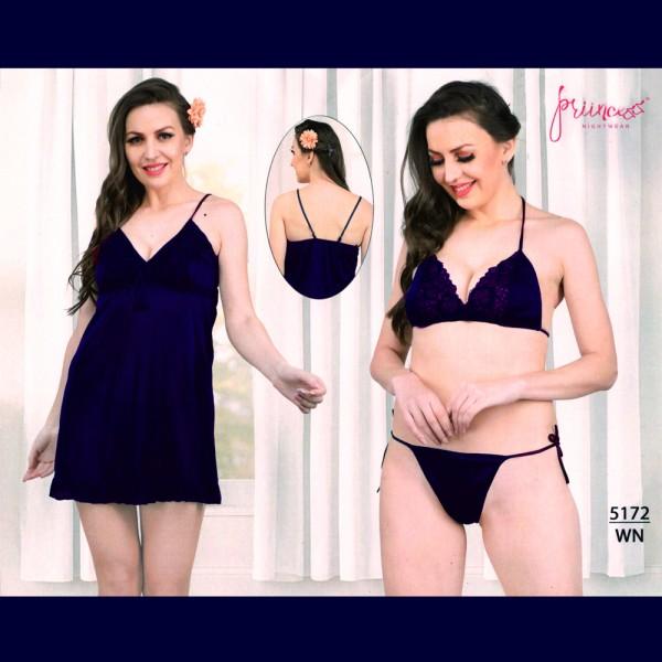 Fashionable Three Part Nighty-5172 WN