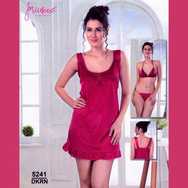 Fashionable Three Part Nighty-5241 DKRN