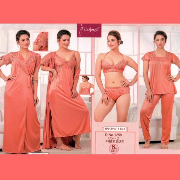 Fashionable Six Part Nighty-1258 D