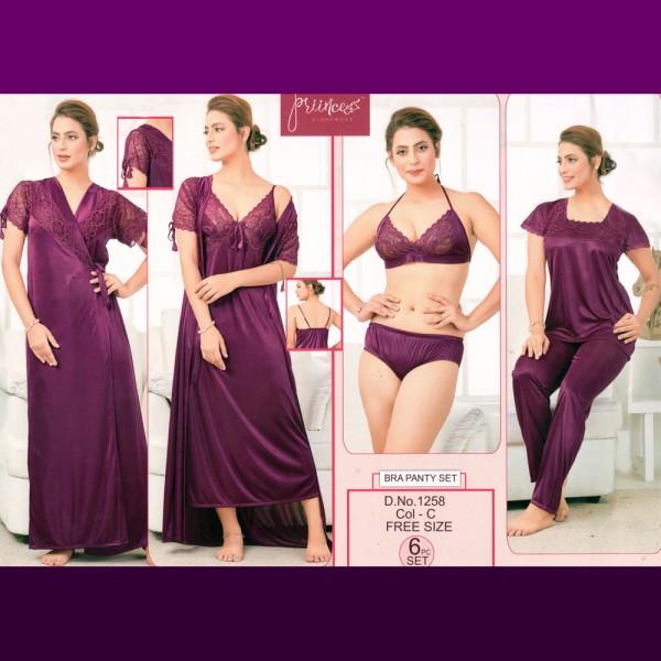 Fashionable Six Part Nighty-1258 C