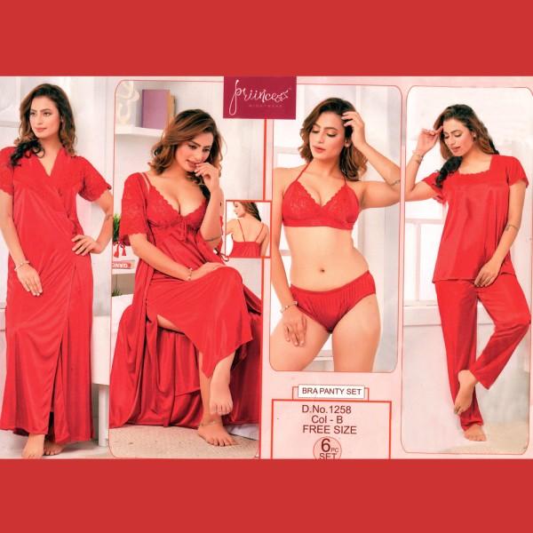 Fashionable Six Part Nighty-1258 B