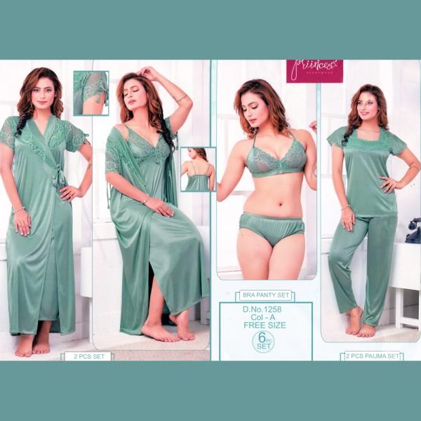 Fashionable Six Part Nighty-1258 A