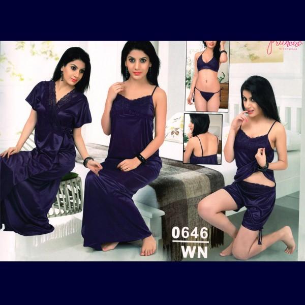 Fashionable Six Part Nighty-0646 WN