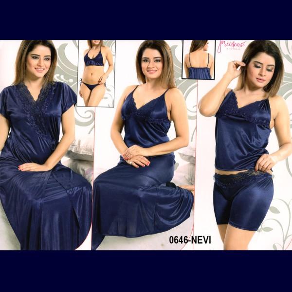 Fashionable Six Part Nighty-0646 NEVI