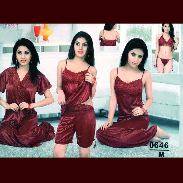 Fashionable Six Part Nighty-0646 M