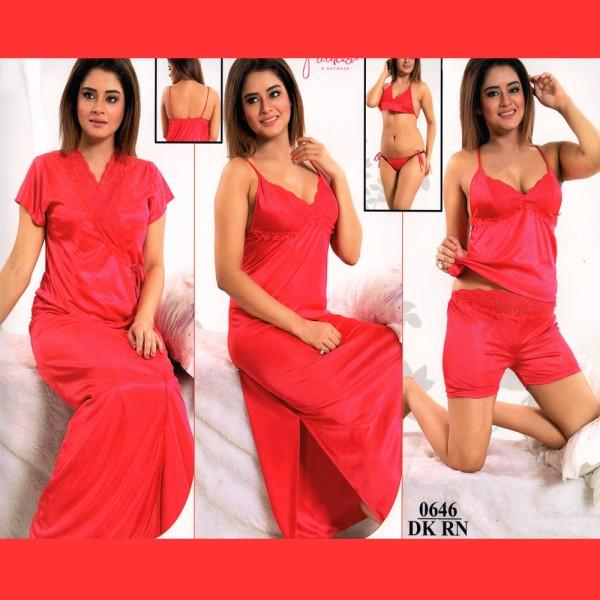Fashionable Six Part Nighty-0646 DKRN